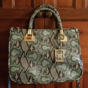 Gianni bini green snake skin bag